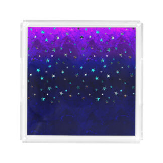 Space beautiful galaxy night starry  image acrylic tray