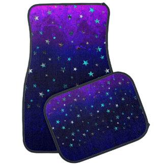 Space beautiful galaxy night starry  image car mat