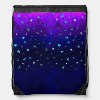 Space beautiful galaxy night starry  image drawstring bag