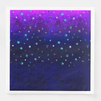 Space beautiful galaxy night starry  image paper dinner napkin