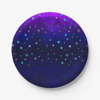 Space beautiful galaxy night starry  image paper plate