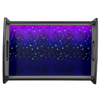 Space beautiful galaxy night starry  image serving tray