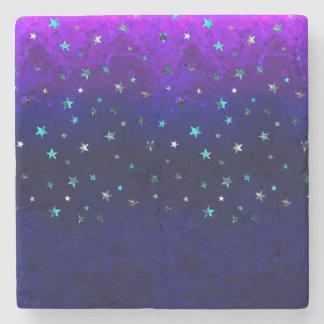 Space beautiful galaxy night starry  image stone coaster