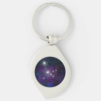 Space beautiful galaxy starry night image keychain