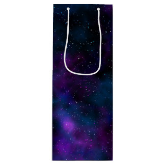 Space beautiful galaxy starry night image wine gift bag