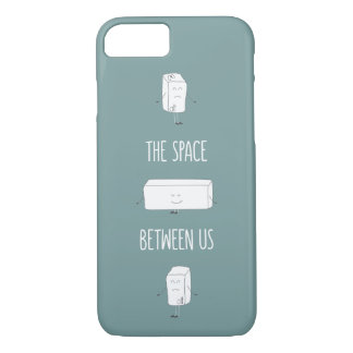 Space between us funny doodle quote iPhone 8/7 case