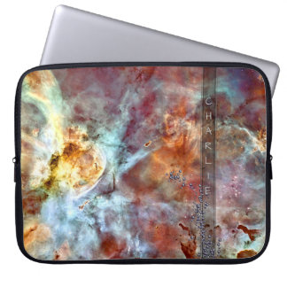 Space Bling Monogram Laptop Sleeve