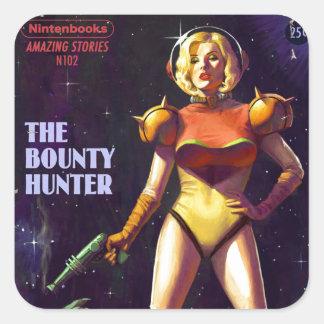 Space Bounty Hunter Square Sticker