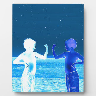Space boys plaque