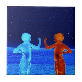 Space boys tile