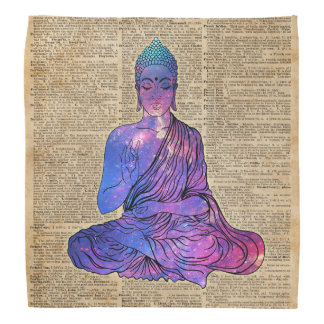 Space Buddha Dictionary Art Bandana