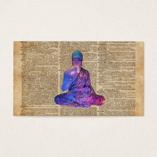 Space Buddha Dictionary Art Business Card