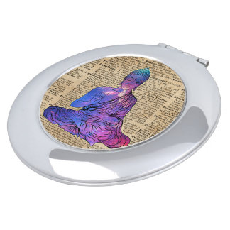 Space Buddha Dictionary Art Compact Mirrors
