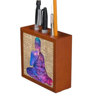 Space Buddha Dictionary Art Desk Organizer