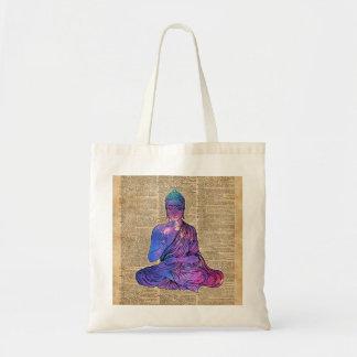 Space Buddha Dictionary Art Tote Bag