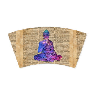Space Buddha Vintage Dictionary Art Paper Cup