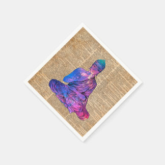 Space Buddha Vintage Dictionary Art Paper Napkin