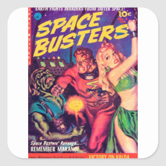 Space Busters Square Sticker