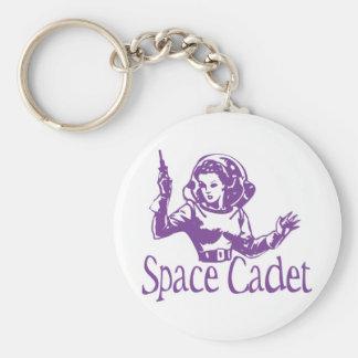 Space Cadet Purple Basic Round Button Keychain
