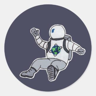 Space Cadet Round Sticker