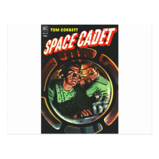Space Cadets in Small Rocket Postcard