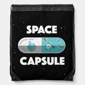 Space Capsule Drawstring Bag