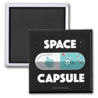 Space Capsule Square Magnet