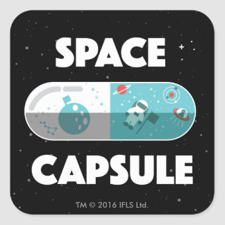 Space Capsule Square Sticker