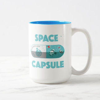 Space Capsule Two-Tone Coffee Mug