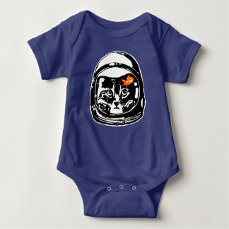 Space cat and the goldfish baby bodysuit