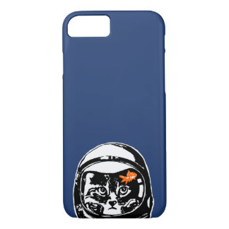 Space cat and the goldfish Case-Mate iPhone case