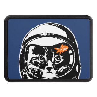Space cat and the goldfish trailer hitch cover