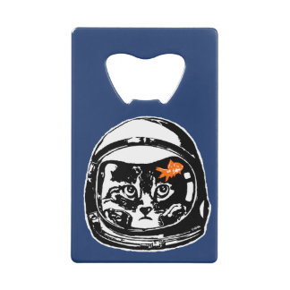 Space cat and the goldfish wallet bottle opener