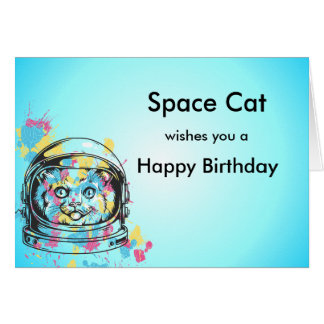 Space Cat Card