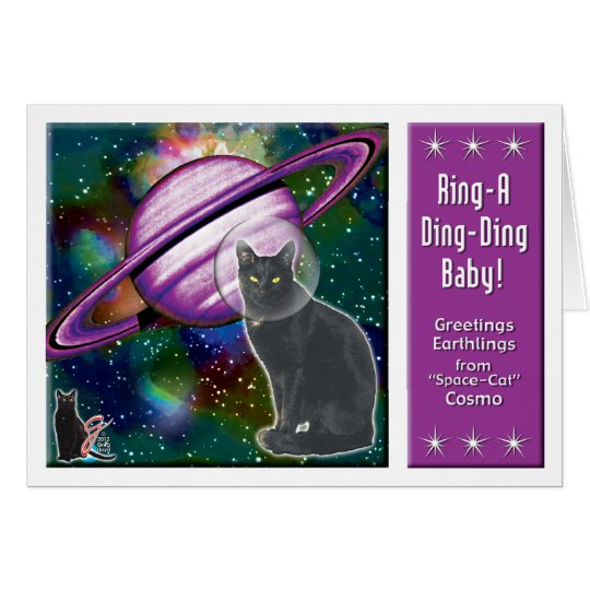 Space-Cat Cosmo Card