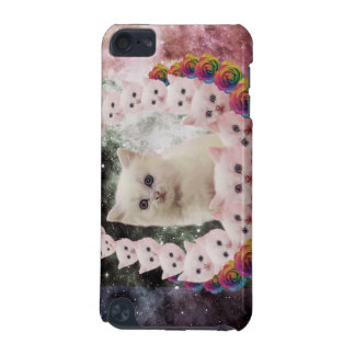 space cat in flowers iPod touch (5th generation) covers
