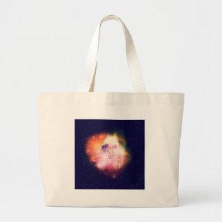 Space Cat Portrait2 Large Tote Bag