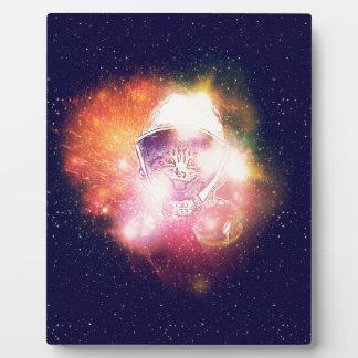 Space Cat Portrait2 Plaque