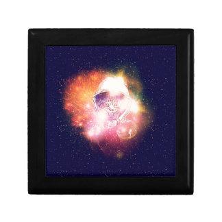 Space Cat Portrait2 Trinket Box