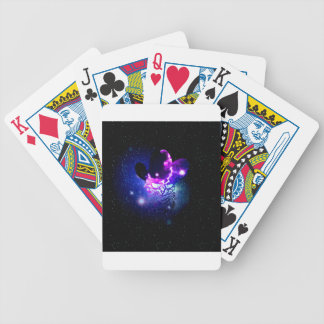 Space Cat Portrait3 Bicycle Playing Cards