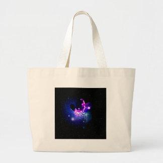Space Cat Portrait3 Large Tote Bag