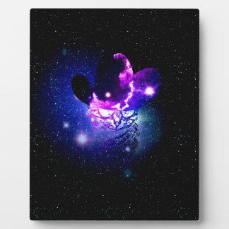 Space Cat Portrait3 Plaque