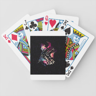 Space Cat Portrait Bicycle Playing Cards
