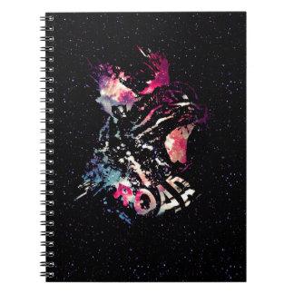 Space Cat Portrait Notebook