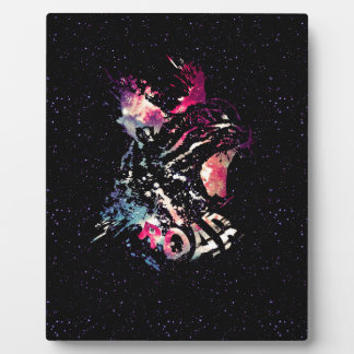 Space Cat Portrait Plaque
