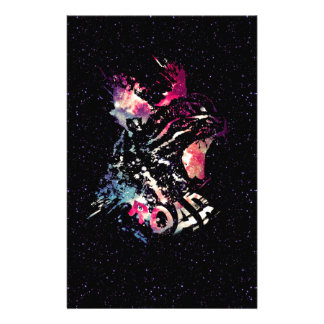 Space Cat Portrait Stationery
