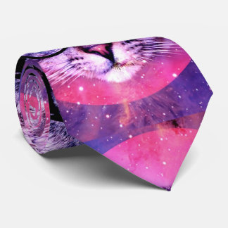 Space Cat Purple Galaxy Trending 2016 Customized Tie