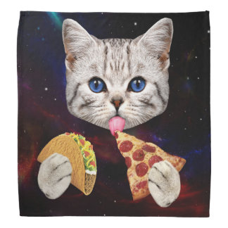 Space Cat with taco and pizza Do-rag