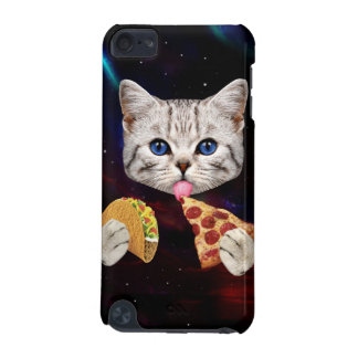 Space Cat with taco and pizza iPod Touch (5th Generation) Cover