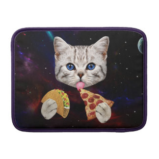 Space Cat with taco and pizza MacBook Air Sleeve
